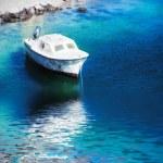 Motor boat on the blue sea — Stock Photo