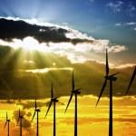 Wind Farm at Sunset — Stock Photo