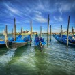 Stock Photo: Godolas in Venice