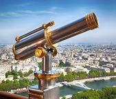 Eiffel Tower telescope — Stock Photo