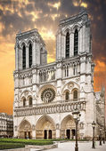 Notre Dame Cathedral in Paris — Stock Photo