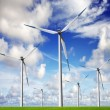Wind energy farm — Stock Photo