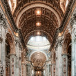 Interior of the Basilica — Stock Photo