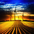 windmill at sunset — Stock Photo