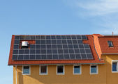 Solar panels on the roof — Stock Photo