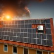 Stock Photo: Experimental solar power