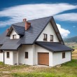 New family house in the mountains — Stock Photo