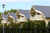 Street suburban homes — Stock Photo