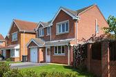 Typische englische wohn-immobilien — Stockfoto