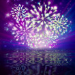 Fireworks and reflection — Stock Photo