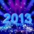 2013 on colorful clouds — Foto Stock