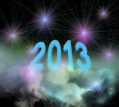 2013 on clouds — Stock Photo