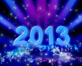 2013 on colorful clouds — Stock Photo
