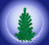 Christmas tree. — Vector de stock