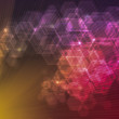 Stock Photo: Geometrical bokeh background
