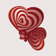 Wektor stockowy : Two abstract heart.