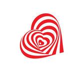 Corazón abstracto. — Vector de stock
