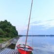 Boat on the lake — Stock Photo #27948363