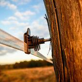 木制边界栅栏 — 图库照片