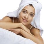 In towelin towel — Stock Photo #12584980