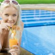 Portrait of young attractive woman having good time in tropic environment — Stock Photo #12768347