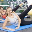 Portrait of young nice women getting busy in gym - Foto de Stock