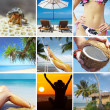 Beautiful tropic lifestyle theme collage made from few photographs — Stock Photo