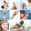 Beautiful baby lifestyle theme collage made from few photographs — Stock Photo #13706572