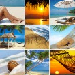 Summertime theme photo collage composed of few images — Stock Photo #13707178