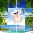 Tropic theme collage composed of different images — Стоковая фотография