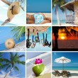 Summertime theme photo collage composed of few images — Stock Photo