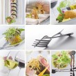 Food and drink theme photo collage composed of few images — Stock Photo #14292253