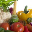 Close up view of nice fresh vegetables  on white back — Stock Photo