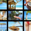 Summertime theme photo collage composed of few images — Stock Photo #14295417