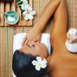 Stock Photo: Portrait of young beautiful woman in spa environment