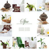 Spa theme collage composed of a few images — Stok fotoğraf