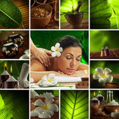 Spa collage — Foto Stock
