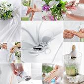Svatební koláž — Stock fotografie