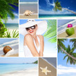 Royalty-Free Stock Photo: Beach collage