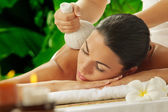 Massage on green — Stock Photo