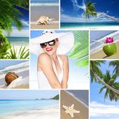 Beach collage — Stock Photo