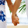 View of mans and womans hands holding together tight — Stock Photo #25930709