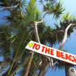 View of street sign in nice tropic environment - Stock Photo