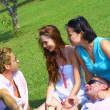 View of group of young having fun in summer environment — Stock Photo #25996213