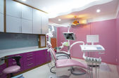 Panoramic view of interior of dental office — Stock Photo