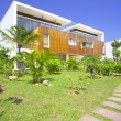 View of nice modern villa in tropic environment — Stock Photo #26001209