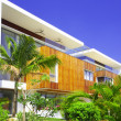 View of nice modern villa in tropic environment — Stock Photo #26001837