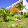 View of nice modern villa in tropic environment — Foto de Stock