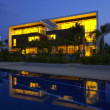 View of nice modern villa in tropic environment - ストック写真