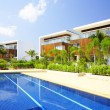 View of nice modern villa in tropic environment — Stock Photo #26006423